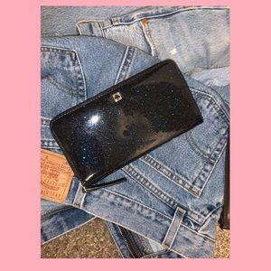 Kate Spade Blue Sparkly Wallet/Wristlet